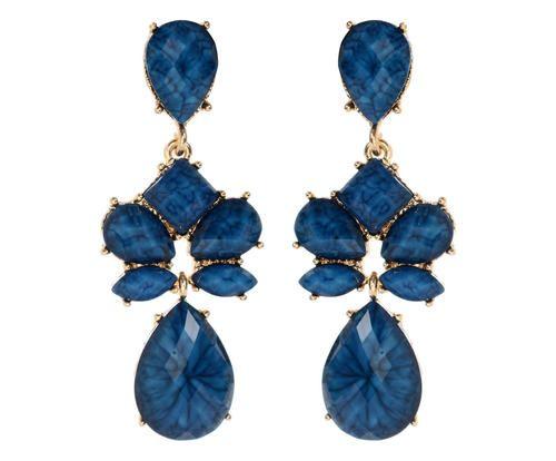 Coppia di orecchini in ottone e resina friday blu Colore blu  ad Euro 19.00 in #Amrita singh jewelryaccessories #Misc apparelaccessories