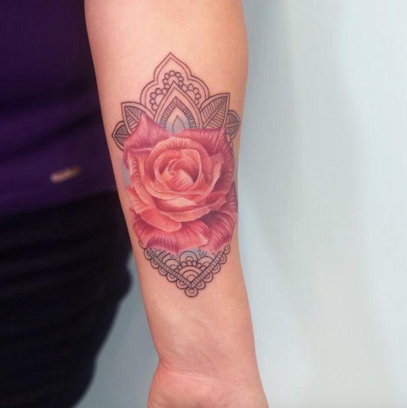 Mandala Rose by Bryan Gutierrez