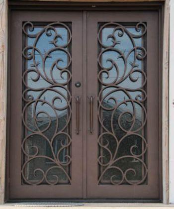 custom wood doors wrought iron doors brooklyn new york city new