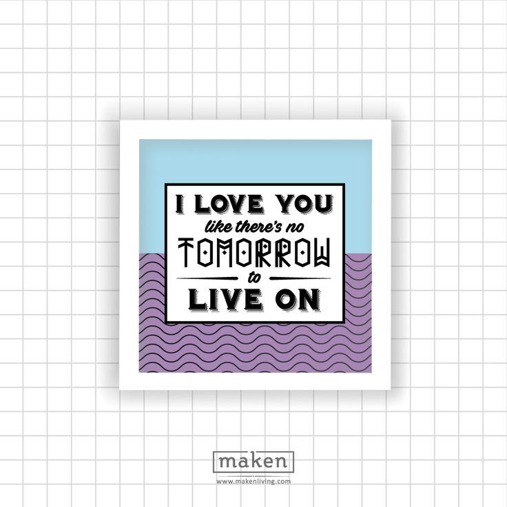 I Love You (MAR17-04)  Ungkapan rasa sayang kepada orang tercinta pasti akan terasa berbeda melalui hiasan dinding ini. Dengan kata-katanya yang romantis, pasti akan membuat bahagia orang yang kita sayangi. Selain itu, hiasan dinding ini juga dapat menghias sudut rumah denga warnanya yang unik.