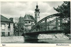 Győr Carmelite Church Vintage Postcard