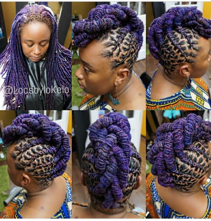 Love this color on her locs