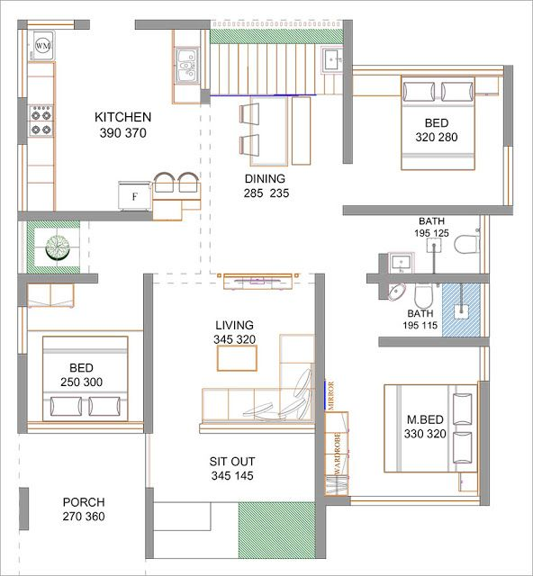 5 Cent 3 Bedroom Budget Home Design With Free Home Plan Free Kerala Home Plans Free House Plans Budget House Plans Bungalow Floor Plans