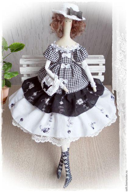 Куклы Тильды ручной работы. Ярмарка Мастеров - ручная работа. Купить Текстильная интерьерная кукла в стиле тильда Моника. Handmade.