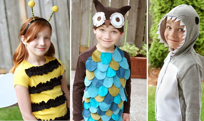 for Sydney's owl costume - 6 Simple Halloween Costumes {Owl, Bee, Shark,