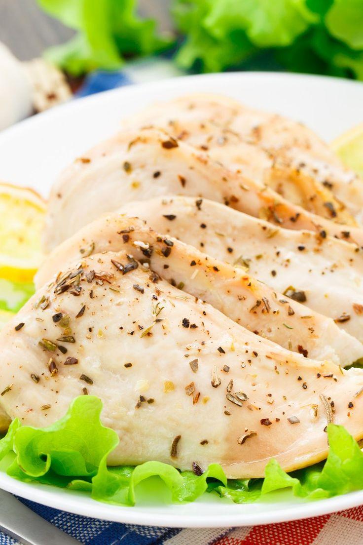 Skinny Slow Cooker Lemon Garlic Chicken
