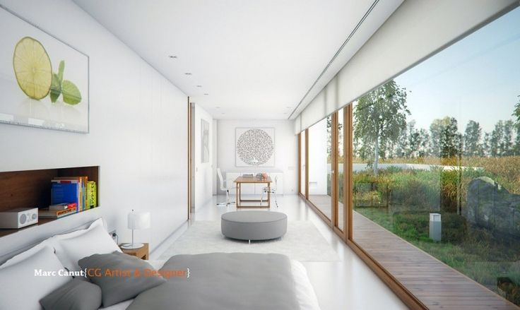Perfect guest house clad in wood and glass by marc canut guest houses small space bedroom and house