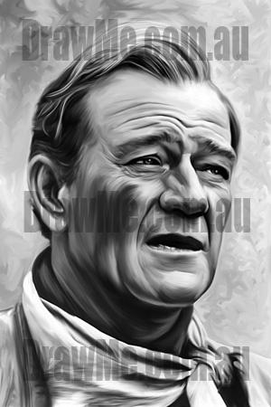 John Wayne portrait available from DrawMe.com.au