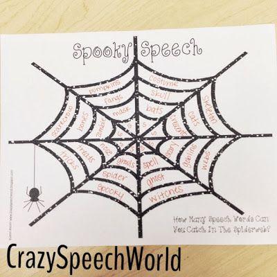 Crazy Speech World: Spooky Speech {Freebie!}