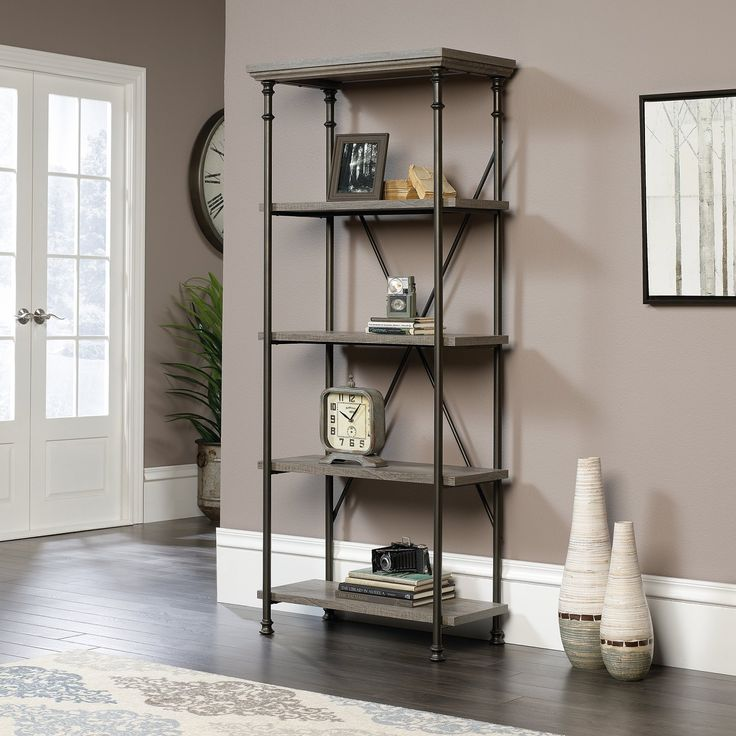 Sauder Canal Street 5 Shelf Bookcase | from hayneedle.com