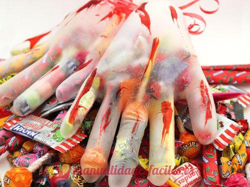Manos terroríficas para Halloween