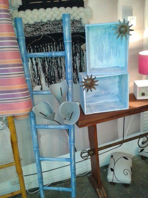 Escalera de bamb y cajones de vino muebles para siempre - Muebles de bambu ...