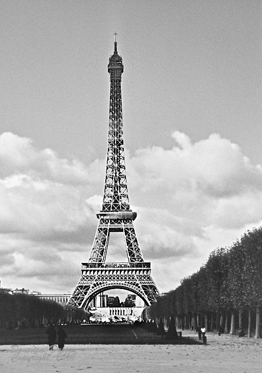 Vintage paris fine art photography eiffel tower black and white wall art