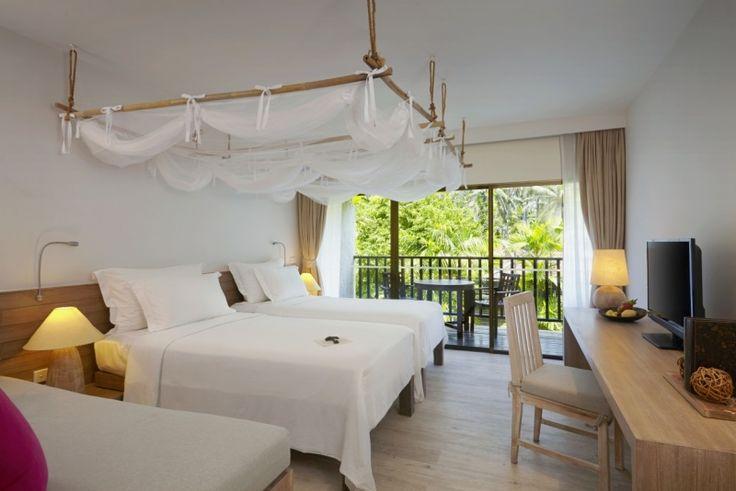 Evason room twin bed at Evason Hua Hin, Thailand. http://www.sixsenses.com/evason-resorts/hua-hin/accommodation/rooms-and-suites