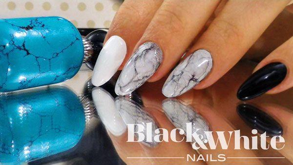 Molto raffinato ed elegante l'effetto marmorizzato in bianco e nero, realizzabile con tutti i colori iperpigmentati, per visualizzare gli step vai su:  http://www.blackandwhitenails.it/decorazioni-unghie-effetto-marmorizzato/