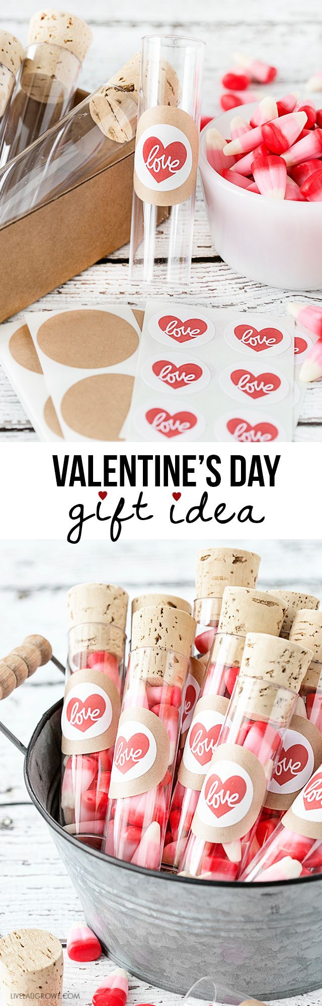 Simple Valentine's Day Gift Idea that can also be used as favors! livelaughrowe.com