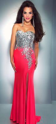 Red rhinestone homecoming dress