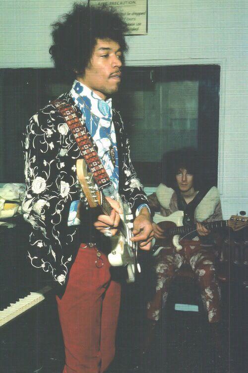 Jimi Hendrix & Noel Redding.   #jimihendrix