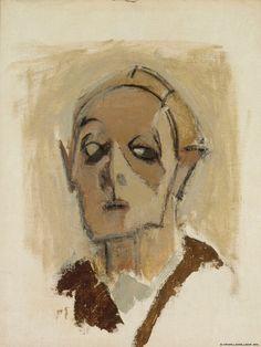 Helene Schjerfbeck (Finnish 1862 – 1946), Self-Portrait en face I, oil/canvas, 1945. Collection Finnish National Gallery, Helsinki.