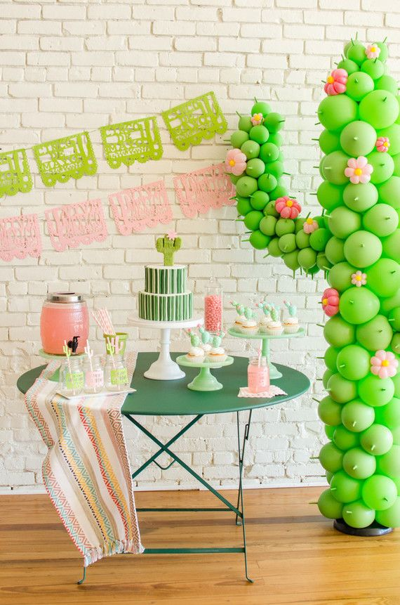 Cactus themed Cinco De Mayo party ideas (100 Layer Cakelet)