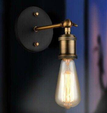 Старинные настенные светильники утюг Ретро настенный светильник E27 110 В 220 В поворотный кронштейн настенный светильник регулируемый спальня гостиная столовая стены лампы