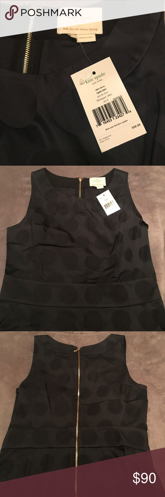 Kate Spade Black Alme Dress Super cute black on black polka dot dress. Great for the office or a night out on the town. kate spade Dresses