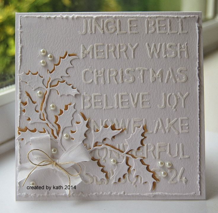 Layering Stencil...Holiday Greens Thinlits and Texture Paste