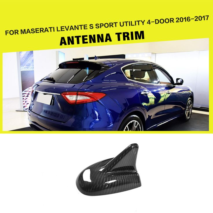 Car Style Carbon Fiber Car Roof Shark Fin Antenna Exterior Trim for Maserati Levante S Sport Utility 4-Door 2016-2017. Yesterday's price: US $51.97 (42.53 EUR). Today's price: US $44.69 (36.88 EUR). Discount: 14%.
