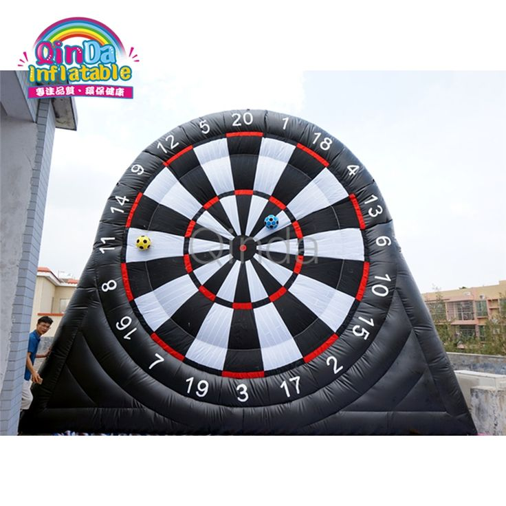 [ 10% Off ] Best price inflatable foot dart game, 5m height inflatable soccer dart board for sale