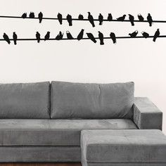 Birds On A Wire Decal, $60, now featured on Fab.