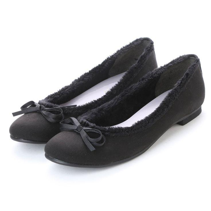 ジェリービーンズ JELLY BEANS ファートリミングバレエシューズ 103-9006 (黒S) -靴&ファッション通販 ロコンド〜自宅で試着、気軽に返品