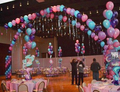 57 best images about masquerade sweet 16 on pinterest for Balloon decoration ideas for sweet 16