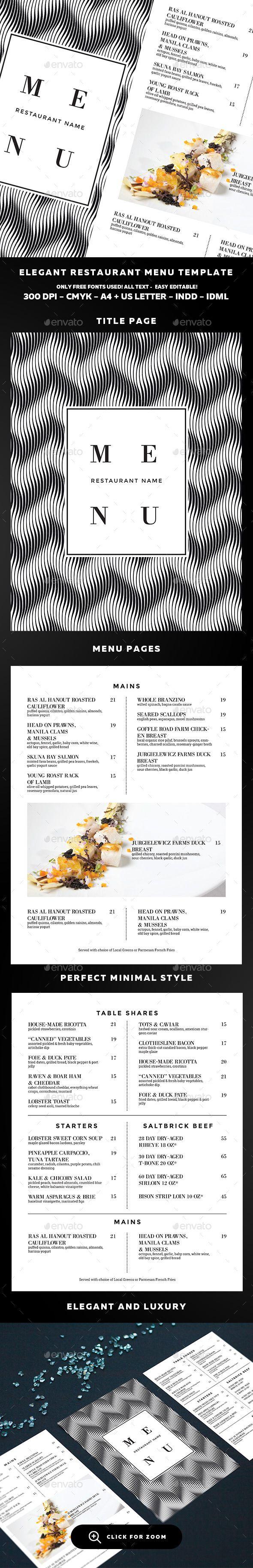25 best ideas about restaurant menu template on pinterest menu templates menu design. Black Bedroom Furniture Sets. Home Design Ideas