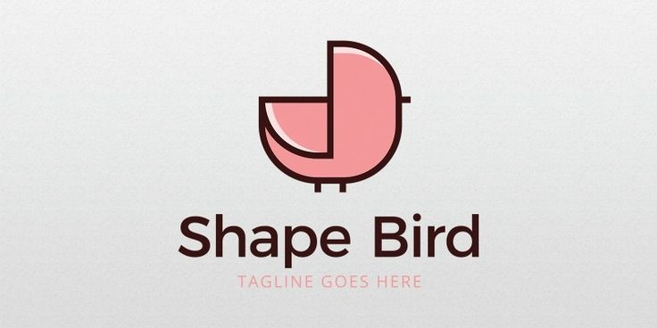 Shape Bird Logo Template for Sale: 24$