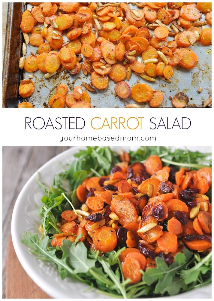 Roasted Carrot Salad. Easily adapted for slimming world