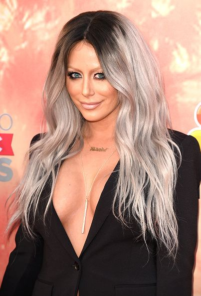 Singer Aubrey O'Day of Dumb Blonde attends the 2015 iHeartRadio Music Awards which broadcasted live on NBC from The Shrine Auditorium on March 29...