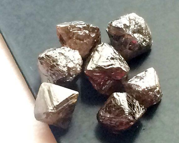 1 Pc Brown Grey Diamond Crystal Brown Rough by gemsforjewels