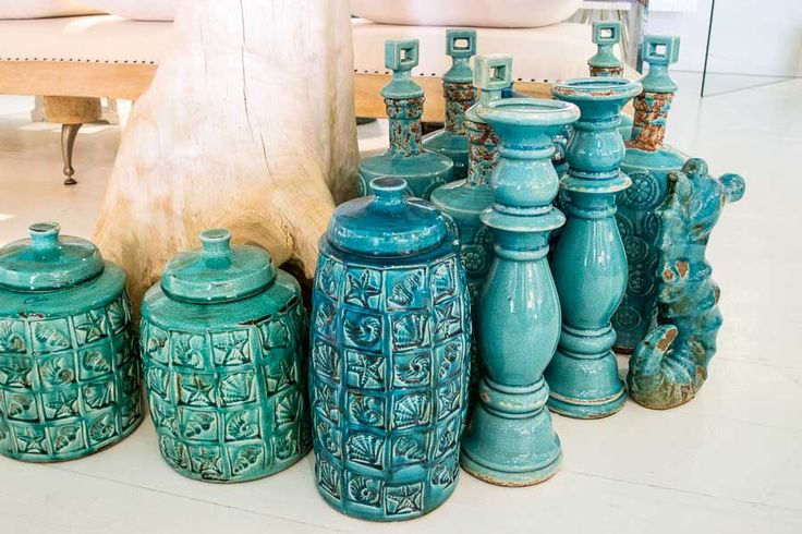 Turquise ceramic collection