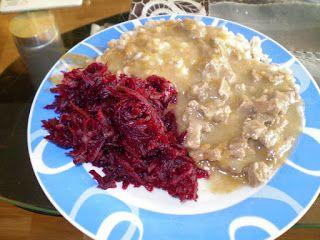 Ania mama Agnieszki: sałatka z buraków (mama karmiąca)
