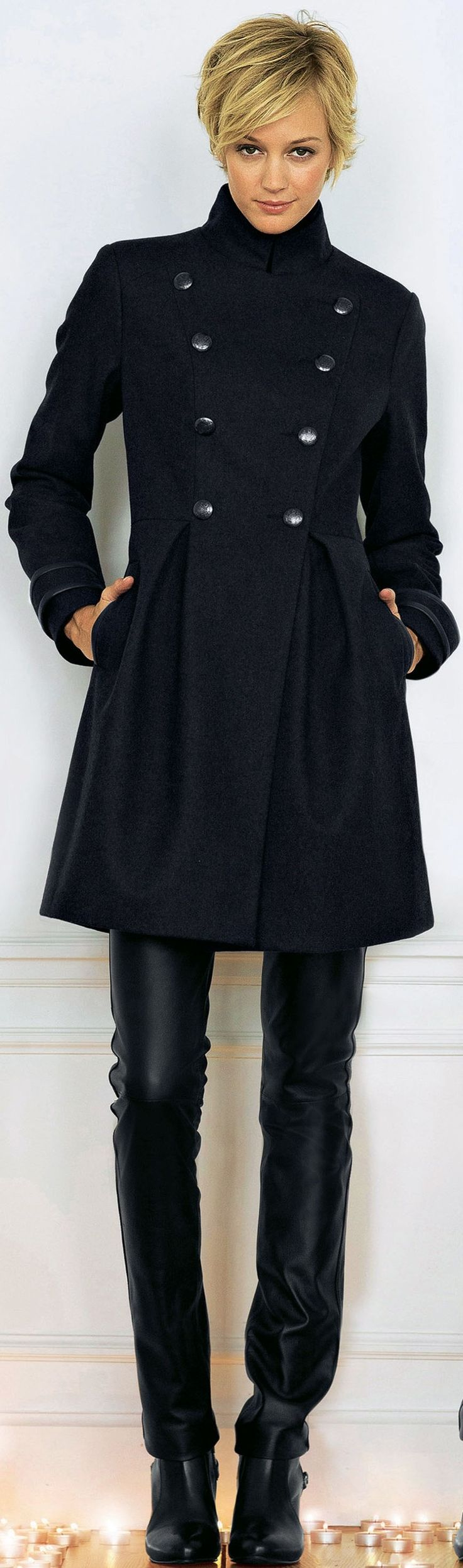 Hot coats for women over 40 - this coat is from La Redoute - read article - http://boomerinas.com/2013/11/06/trendy-coats-for-fall-winter-mature-woman-seeking-cute-comfortable-jacket-for-long-term-relationship/