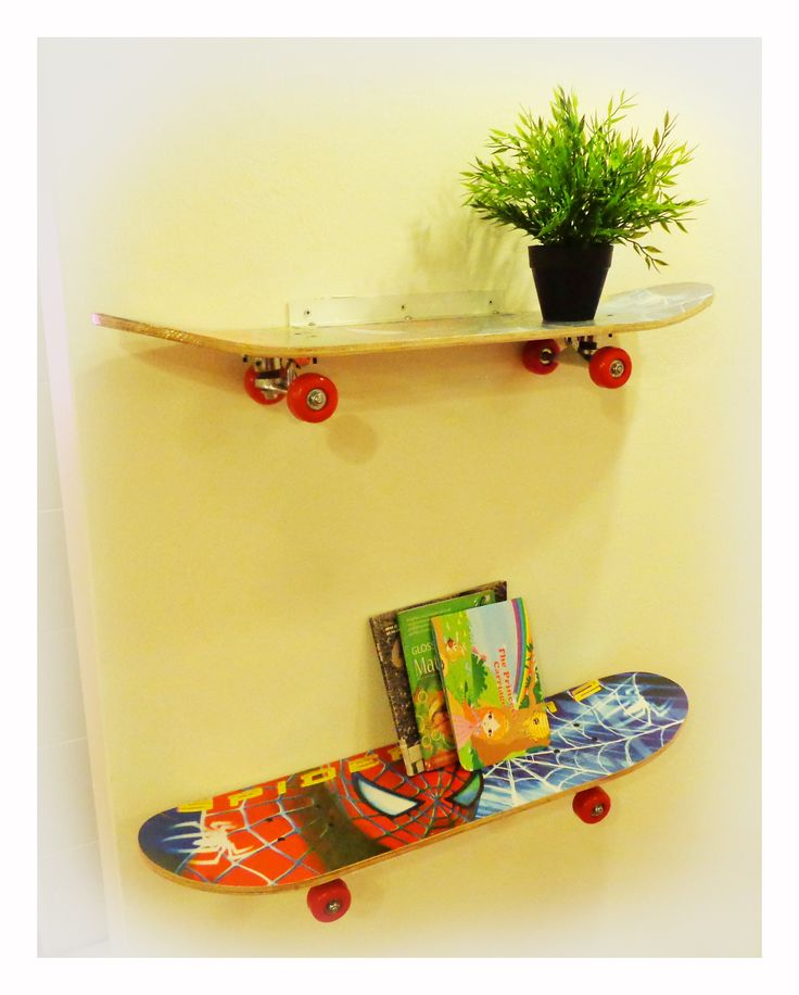 cool skateboard wall shelves ideas | 96 best images about skater room ideas on Pinterest | Cool ...