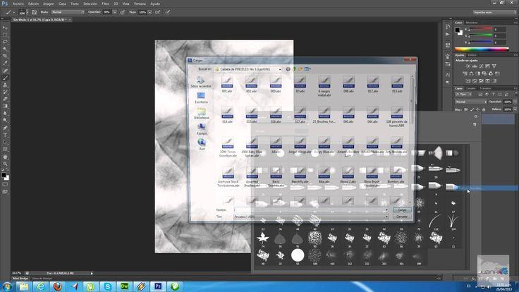 Como Descargar e Instalar Pinceles para Photoshop mas de 1000 pinceles G...