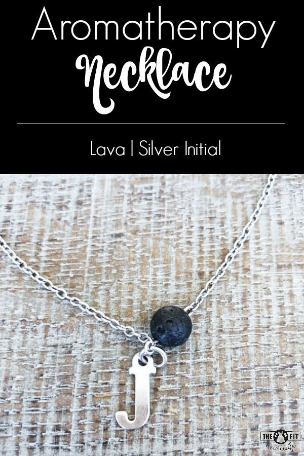 Customize your essential oil diffuser necklace by adding your own initial! Makes a great gift too! #aromatherapyjewelry #diffusernecklace #personalized #lavastonenecklace #initialnecklace