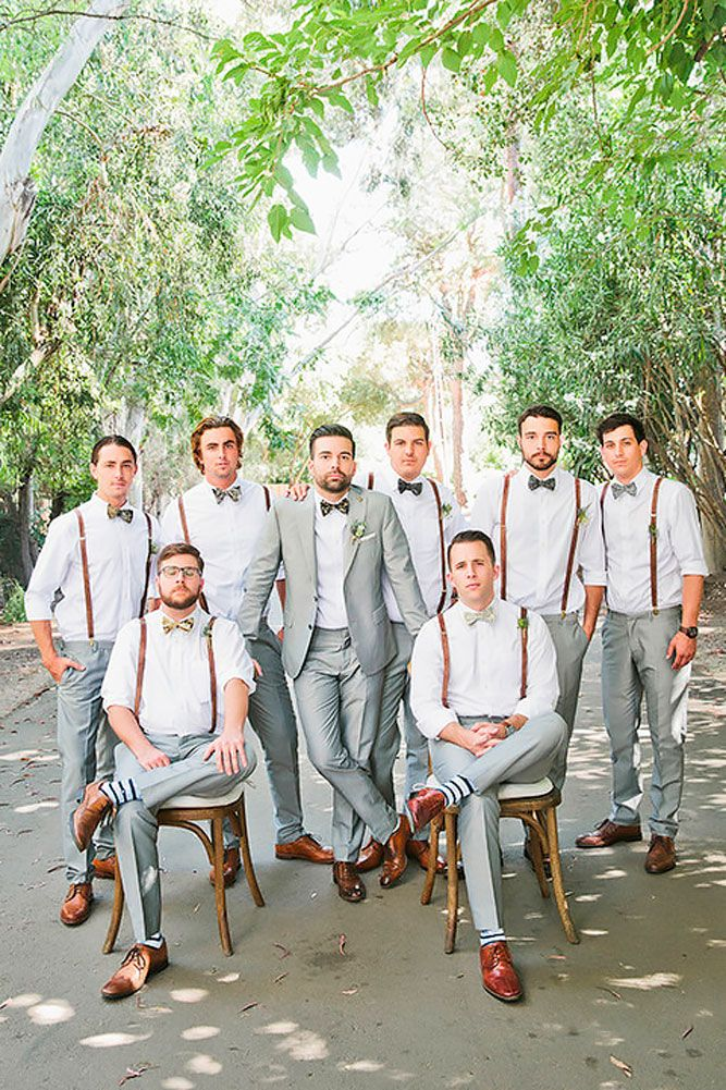 Groomsmen Attire For Perfect Look On Wedding Day ❤ See more: http://www.weddingforward.com/groomsmen-attire/ #weddings
