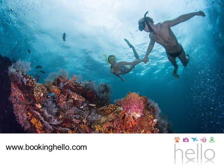VIAJES EN PAREJA. Punta Cana es una de las playas más aisladas de República Dominicana, sin embargo, esto no es impedimento para pasar unas vacaciones grandiosas. Gracias a su ubicación, se pueden disfrutar mucho más las excursiones para hacer snorkeling y apreciar el panorama submarino entre sus cristalinas aguas. En Booking Hello te invitamos a adquirir alguno de nuestros packs all inclusive, para que invites a tu pareja y se olviden juntos de la rutina. #bookinghello
