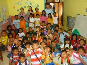 Teaching practice at local Children's home and drop-in community center. TEFL Indonesia in Surabaya