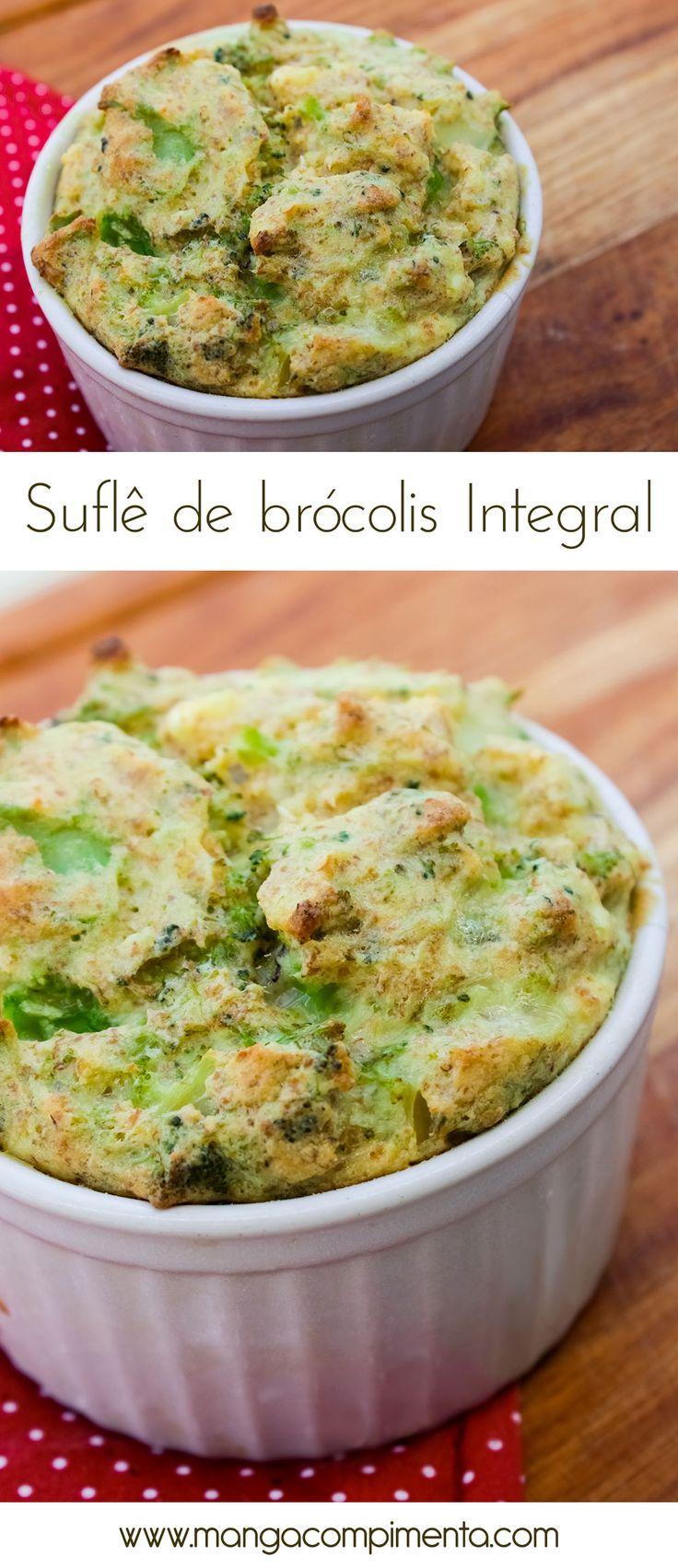 Receita de suflê de brócolis Integral #receitas #integral # brócolis