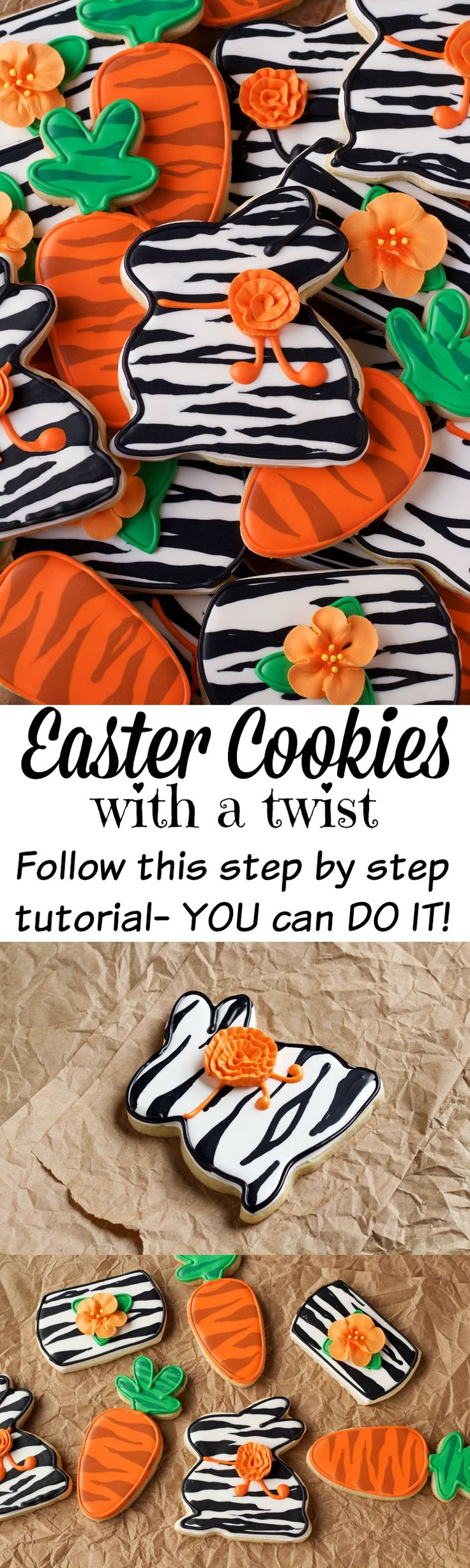 Easter Cookies with a Twist-Sugar Cookies Decorated with Royal Icing www.thebearfootbaker.com