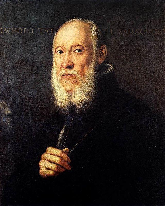 Portrait of Jacopo Sansovino JACOPO ROBUSTI, noto come il TINTORETTO (Venezia, 29 aprile 1519 – Venezia, 31 maggio 1594) #TuscanyAgriturismoGiratola