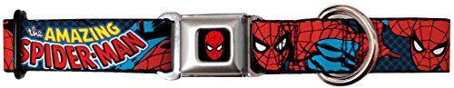 The Amazing Spiderman - Dog Collar - Medium - http://www.petsupplyliquidators.com/the-amazing-spiderman-dog-collar-medium/